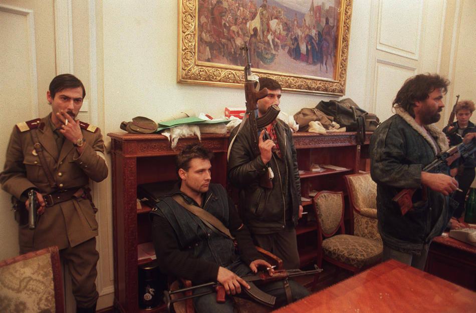 Захват дворца Чаушеску в ходе революции, 1989 год