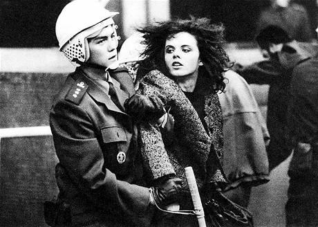 Задержание на студенческой демонстрации, 1989