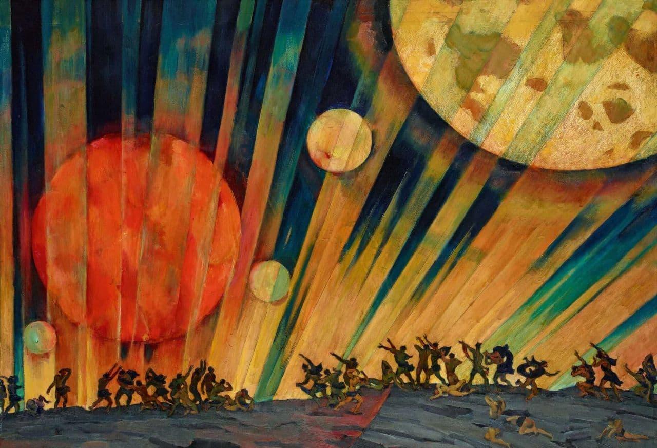 """Константин Юон """"Новая планета"""", 1921"""