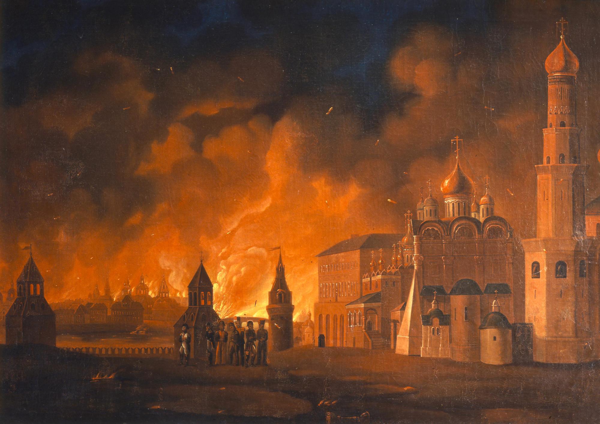 """""""Пожар Москвы"""" картина А. Ф. Смирнова. 1810-е"""