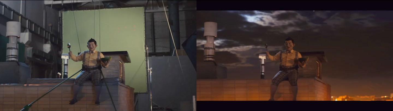 В кино Карлсон имеет превосходные лётные качества.