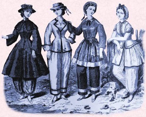 Figure 2.1: Development of the women swimming costume, the 1890s-2010s