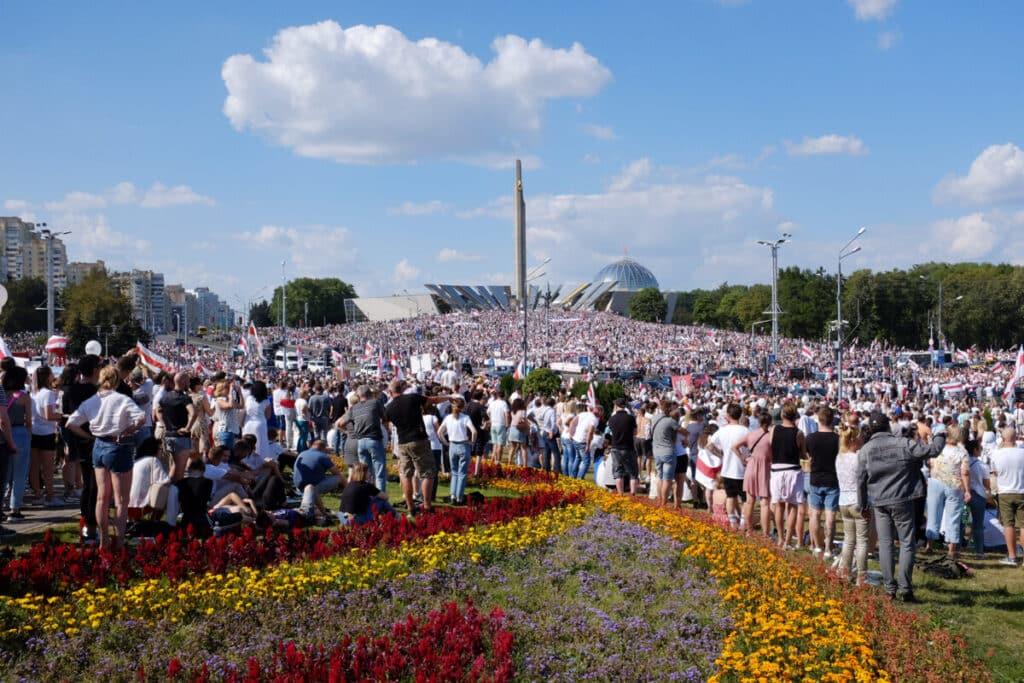 Акция 16 августа в Минске. Фото: Леся Пчелка.