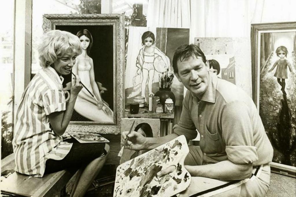 Уолтер Кин и его жена Маргарет за работой