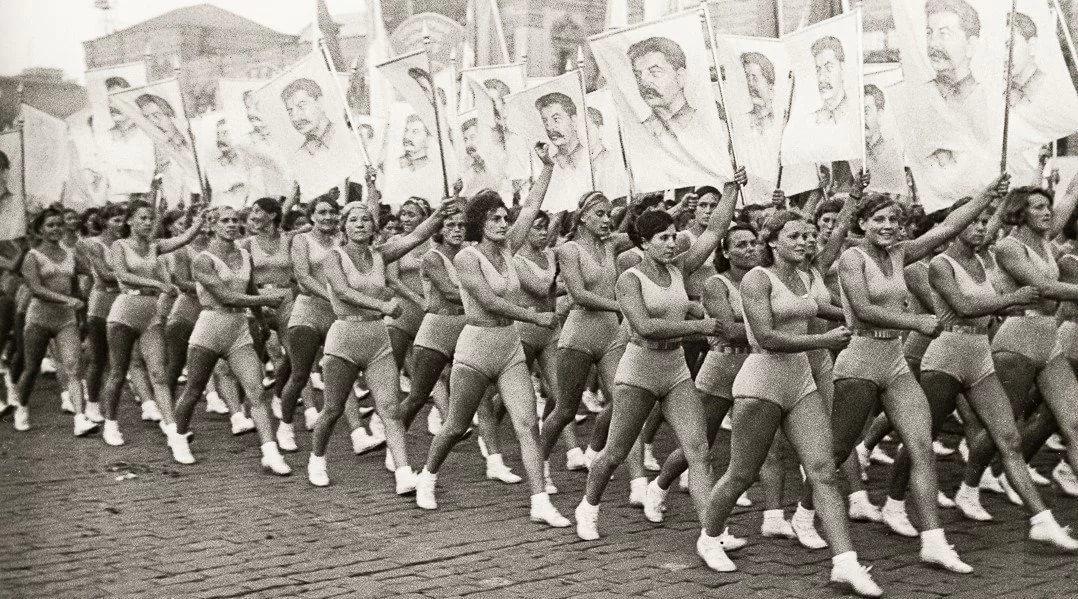 парад физкультурников на Красной площади, 1930-е