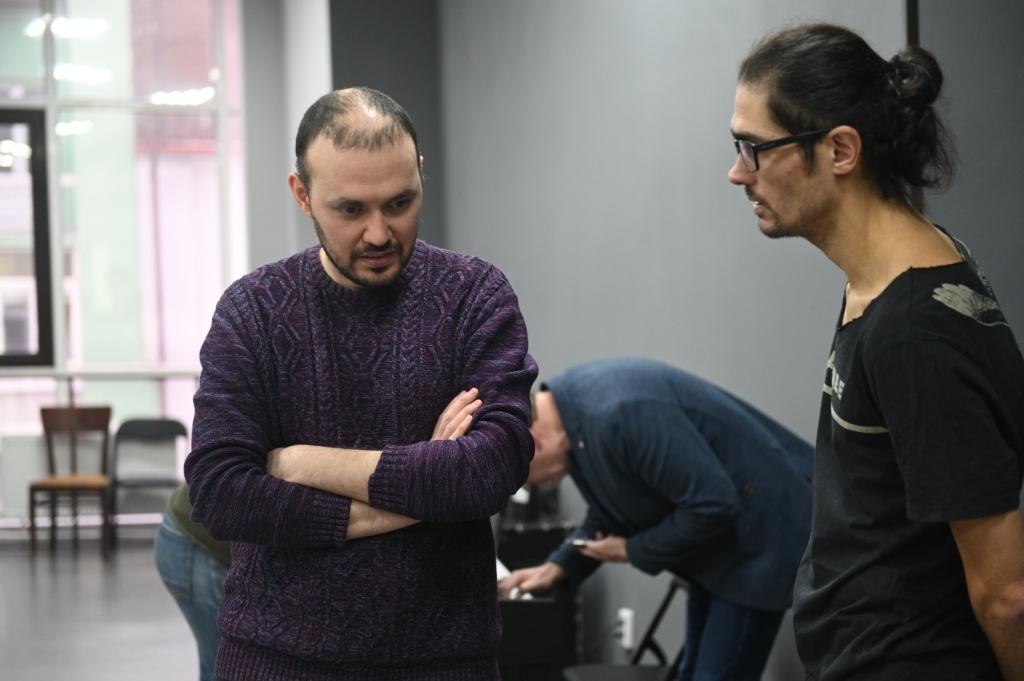Туфан Имамутдинов, Марсель Нуриев - хореограф спектакля, фото: Рамис Назмиев