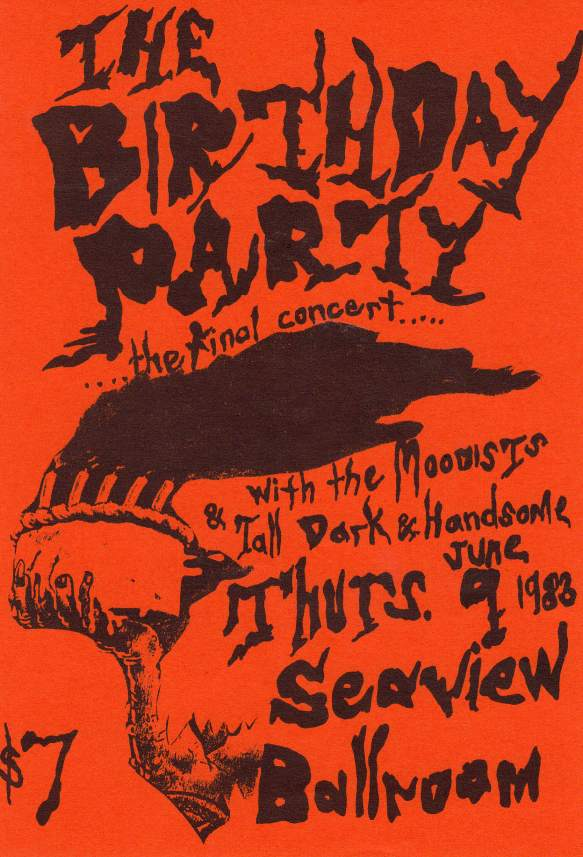 Постер последнего концерта The Birthday Party