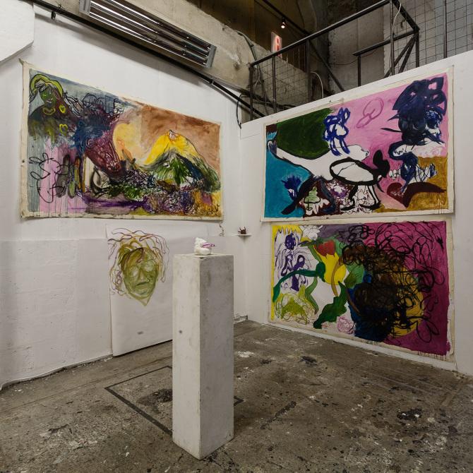 """Проект """"Неоинфантилизм"""", галерея """"Люда"""", 2020. Фото: сайт галереи """"Люда""""."""