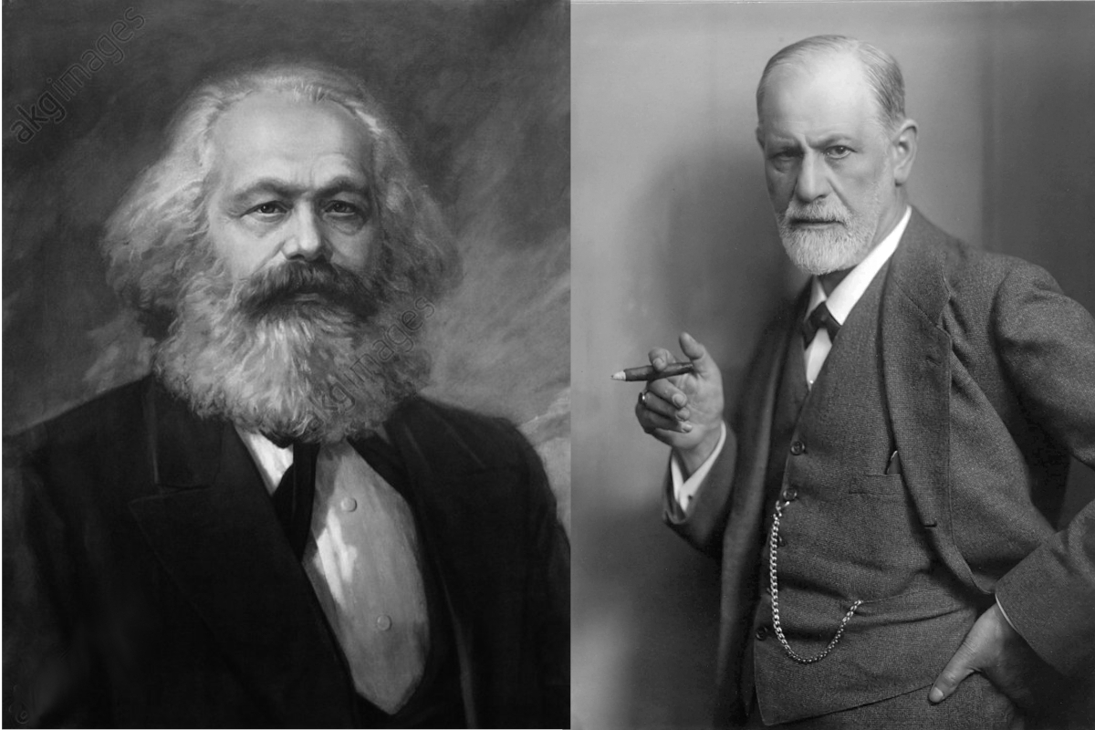 Карл Маркс и Зигмунд Фрейд