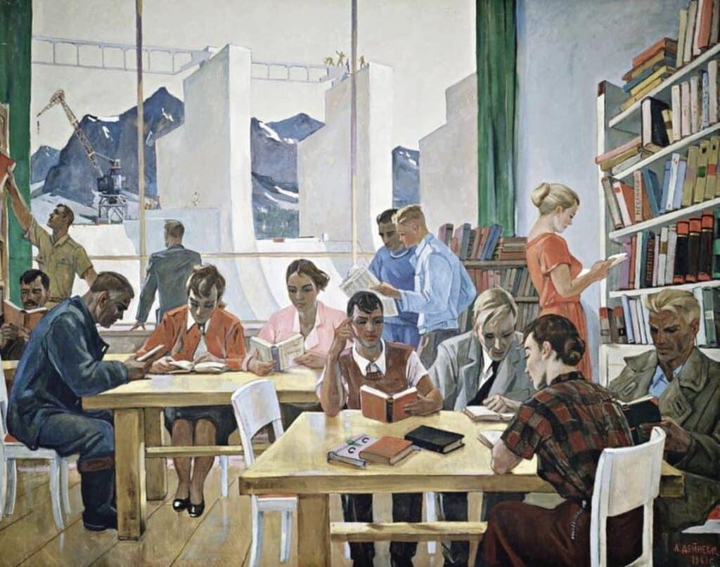 Александр Дейнека, На учебе, 1961