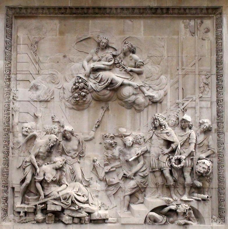 Барельеф мемориальной колоны пожара 1666 года, Лондон