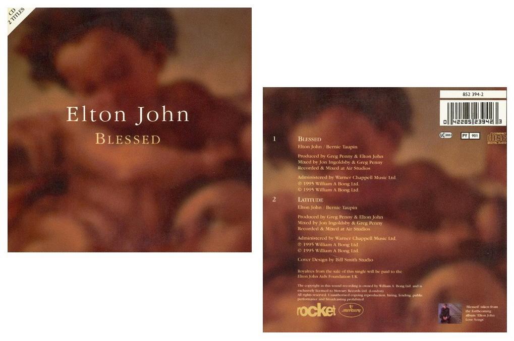 Обложка сингла «Blessed». Над оформлением работал графический дизайнер Билл Смит (Bill Smith).