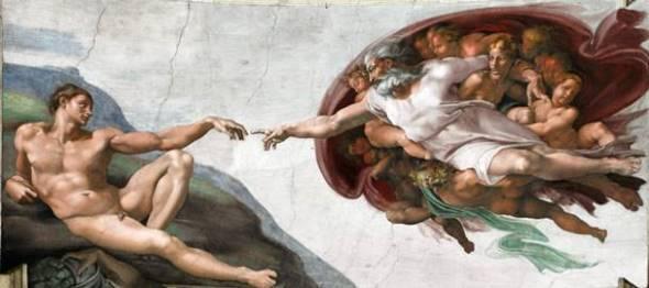 Микеланджело Буонарроти Сотворение Адама Ок. 1511 г. Сикстинская капелла, Ватикан