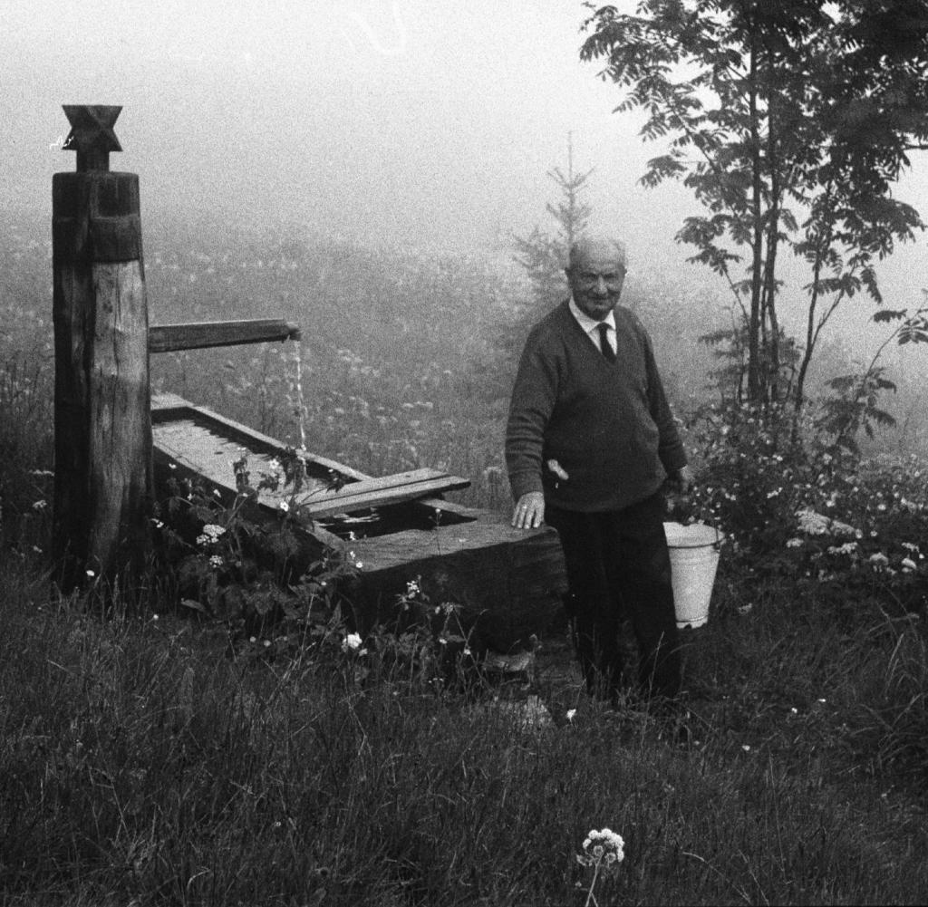 Хайдеггер в Шварцвальде, 1968 год.