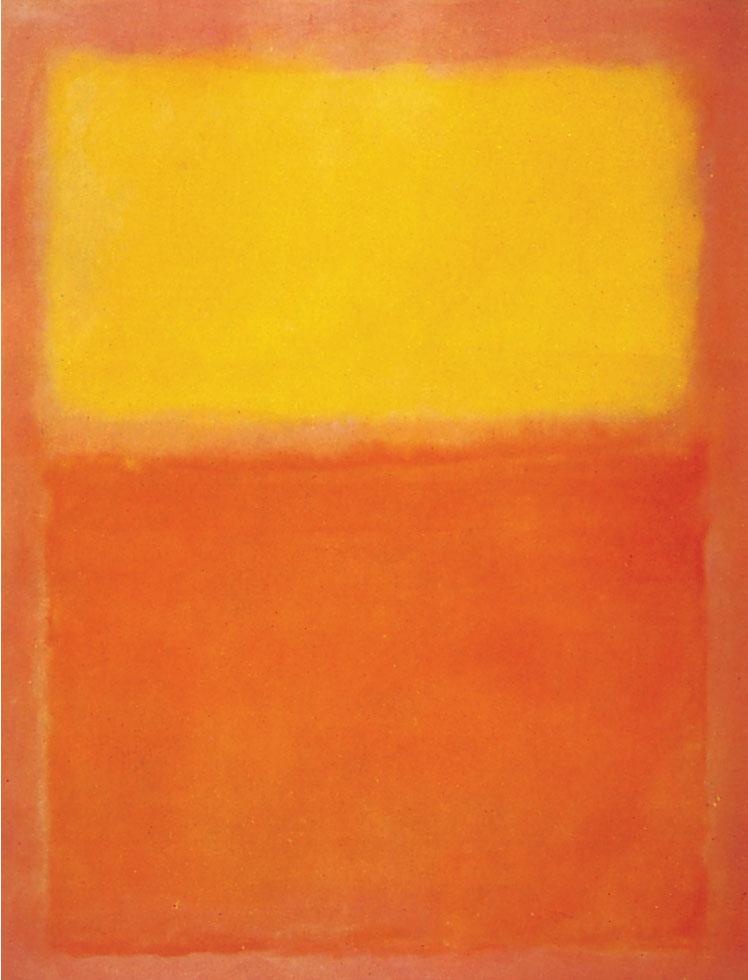 Mark Rothko. Orange and Yellow, 1956.