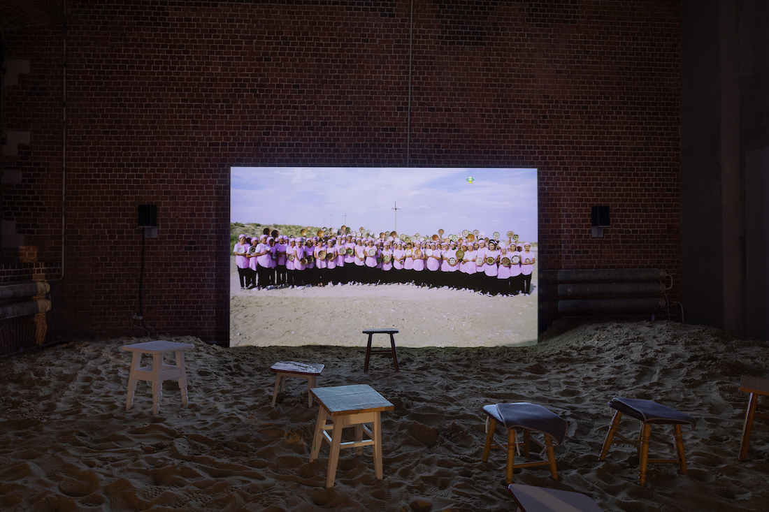 """""""Mirage"""" installation at the Main Project of the VII Moscow International Biennale for Young Art at the Museum of Moscow,"""