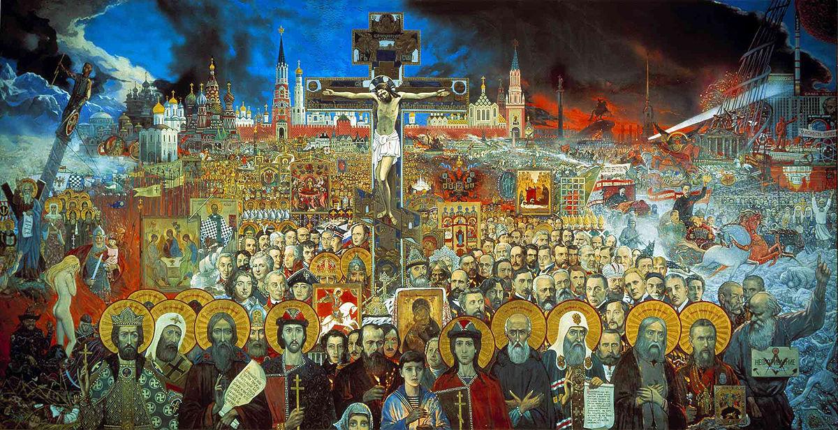 Илья Глазунов, «Вечная Россия», 1988