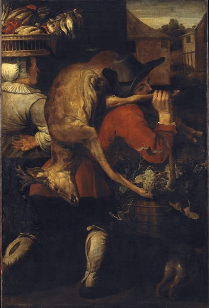 Снейдерс, Франс Возвращение с охоты. Около 1610 года. Холст, масло. 149×119 см. Национальной галерее Праги