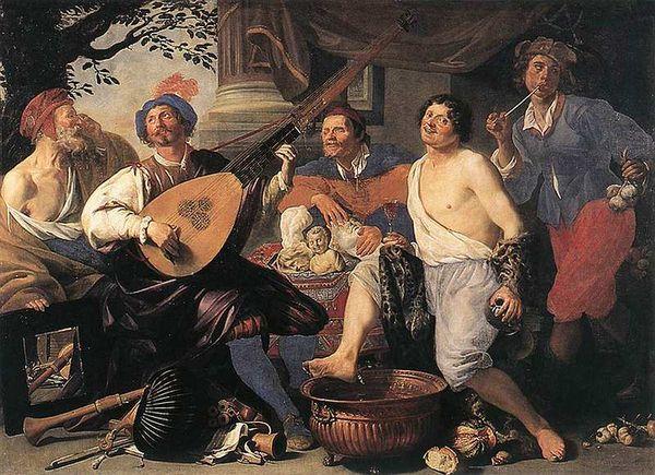 Теодор Ромбоутс Аллегория пяти чувств, 1632 Холст, масло, 207x288 см