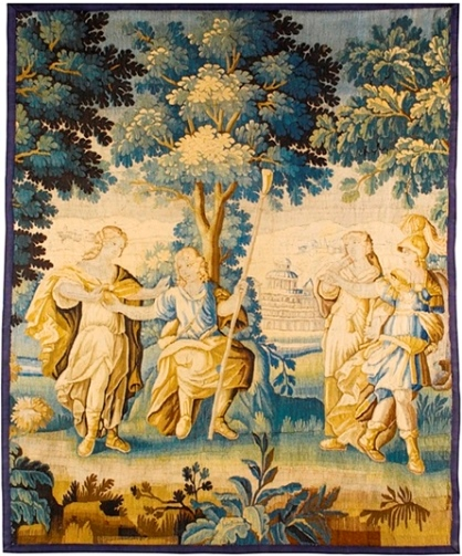 Шпалера «Суд Париса» (?)Франция или Фландрия, конец XVII в. 223×179 см24 сентября 2013 г., Лондон, аукцион Sotheby's, лот