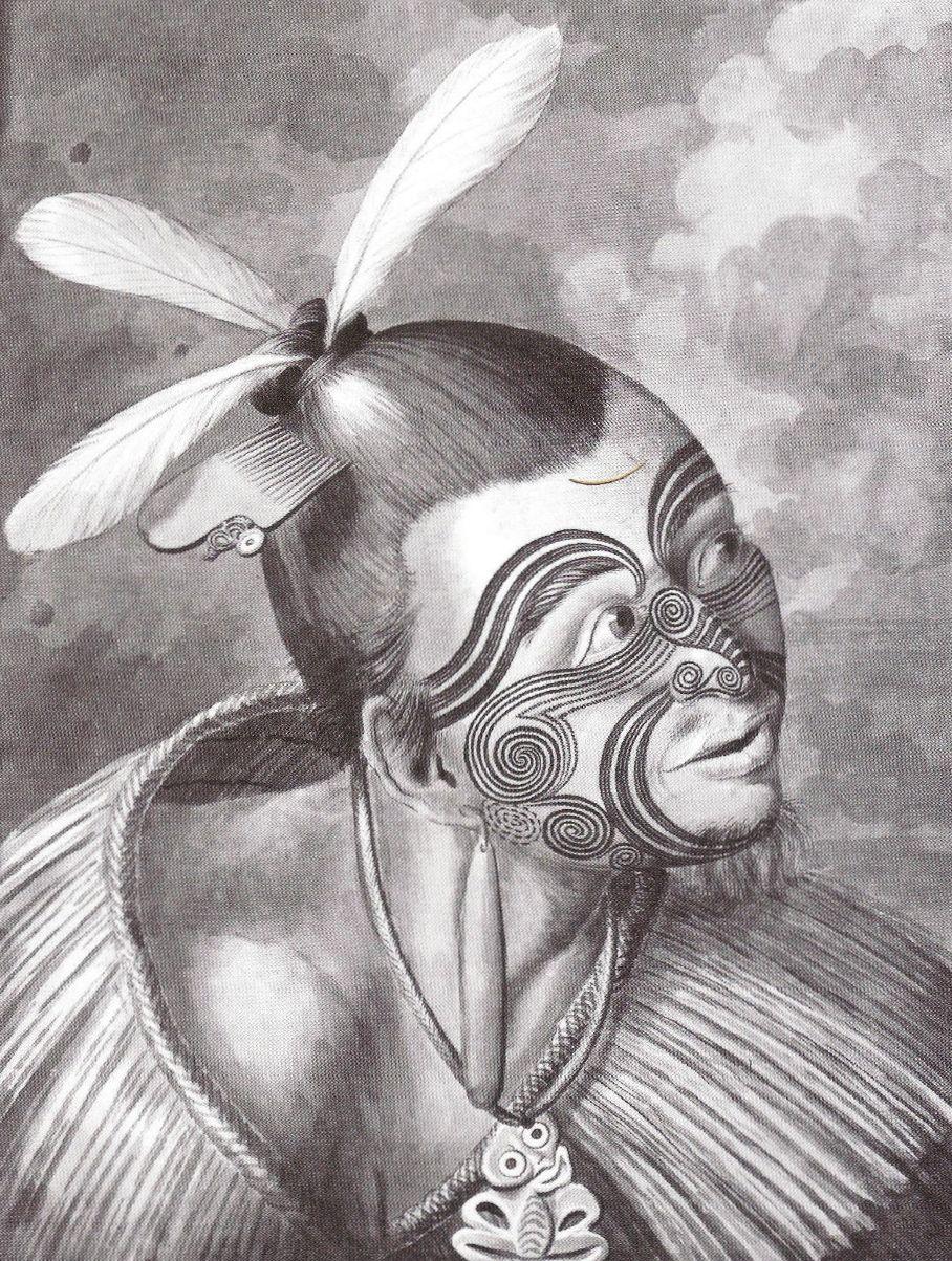 Сидней Паркинсон. Маори. 1769.