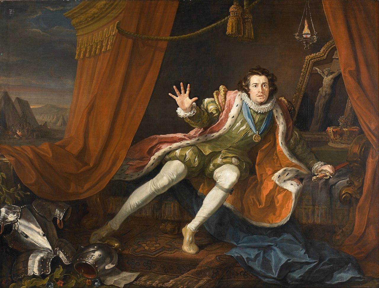 Дэвид Гаррик в роли Ричарда III