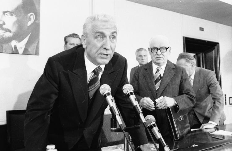 Первый секретарь ПОРП Э. Герек 24 августа 1980 года
