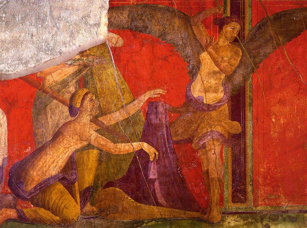 Фреска из Виллы Мистерий, Помпеи.
