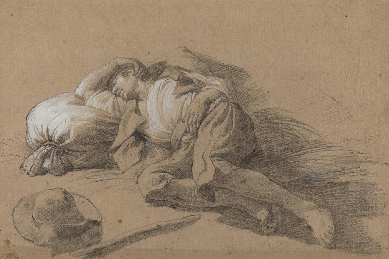 «Спящий крестьянин» Франческо Лондонио (1776). Национальная художественная галерея, Вашингтон.