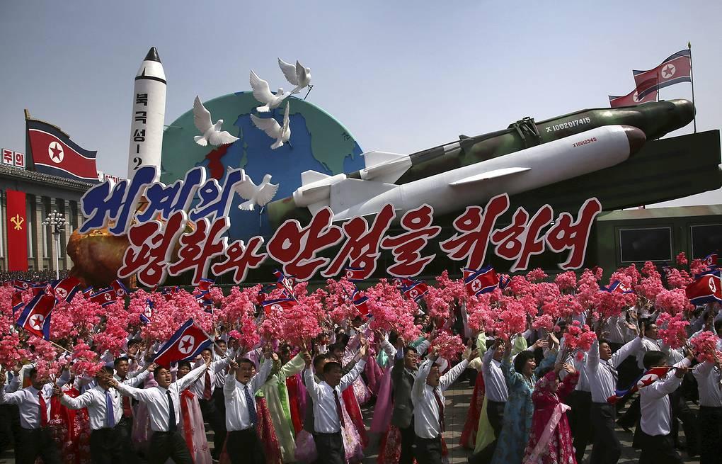 Военный парад в Пхеньяне. Источник - AP