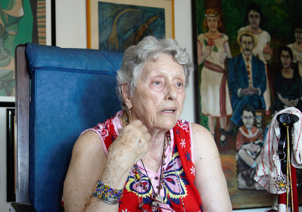 Натали Боливар 85 лет, но бодрость духа не покидает ее. Архив автора.