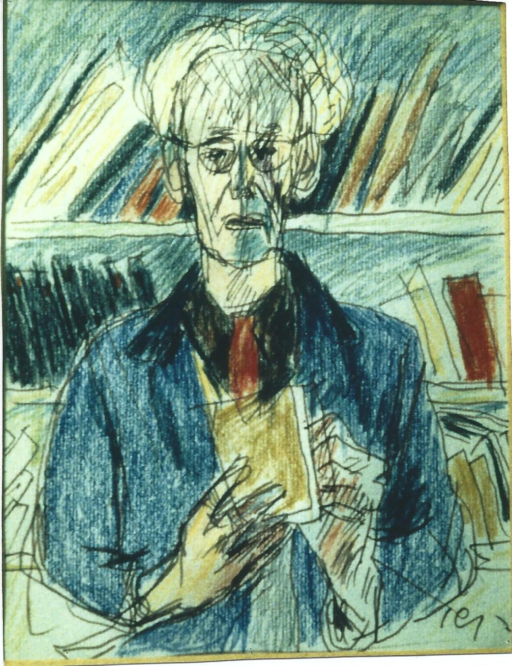 <i>Юзеф Чапский, Автопортрет, 1973 год</i>
