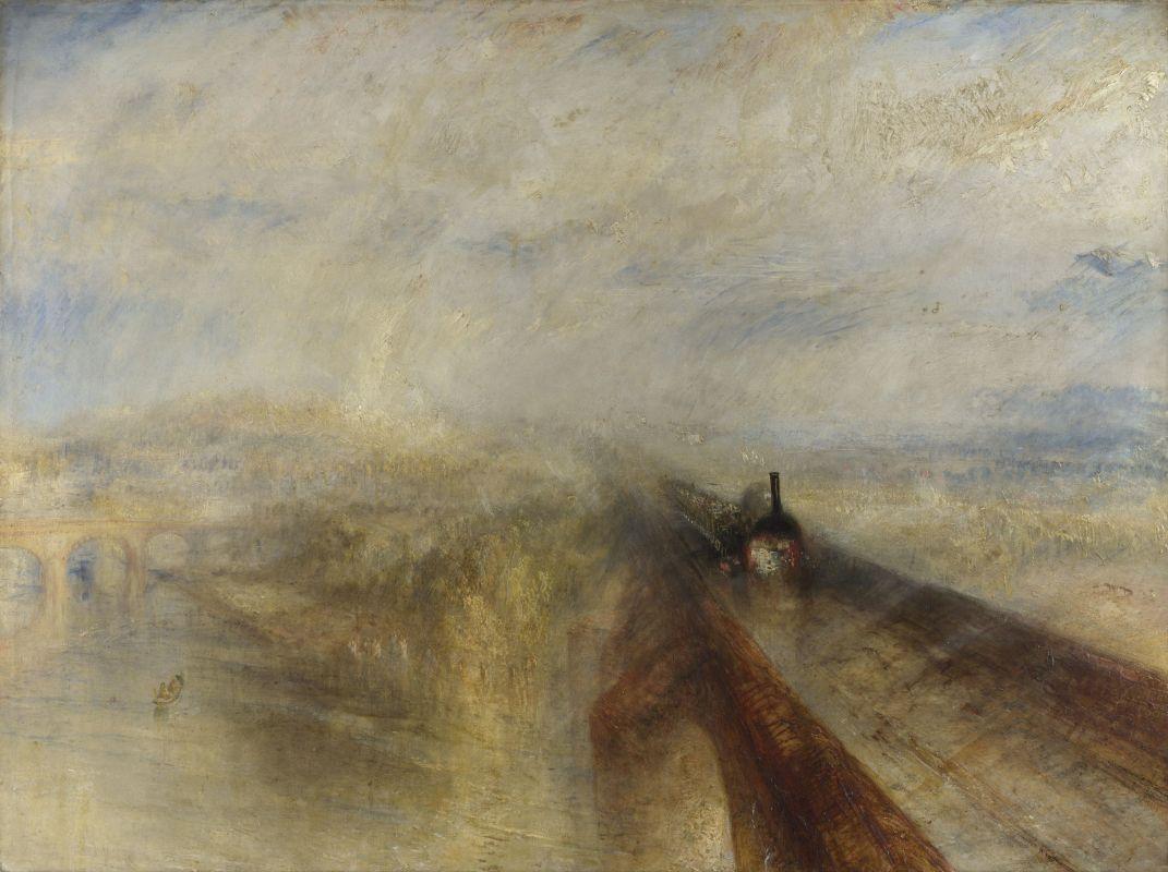 «Дождь, пар и скорость. Большая западная железная дорога». Предтеча импрессионизма, Джозеф Мэллорд Уильям Тёрнер. 1844