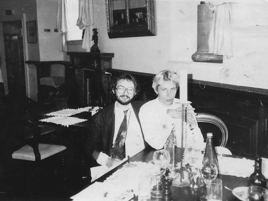 Марат Гельман и Олег Голосий, Москва, 1991. Автор неизвестен