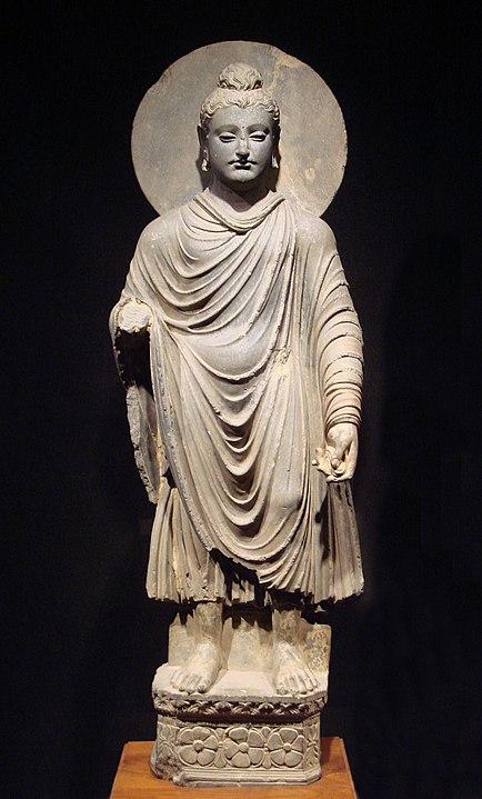 Сиддхартха Гаутама, статуя 1-2 веков н.э., период греко-буддийской синкретической культуры
