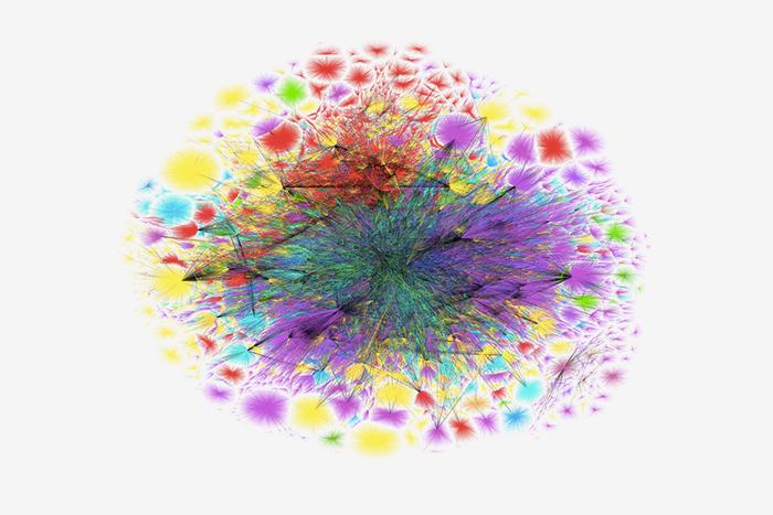 Схематическая карта интернета. 11 июля 2015 года © The Opte Project