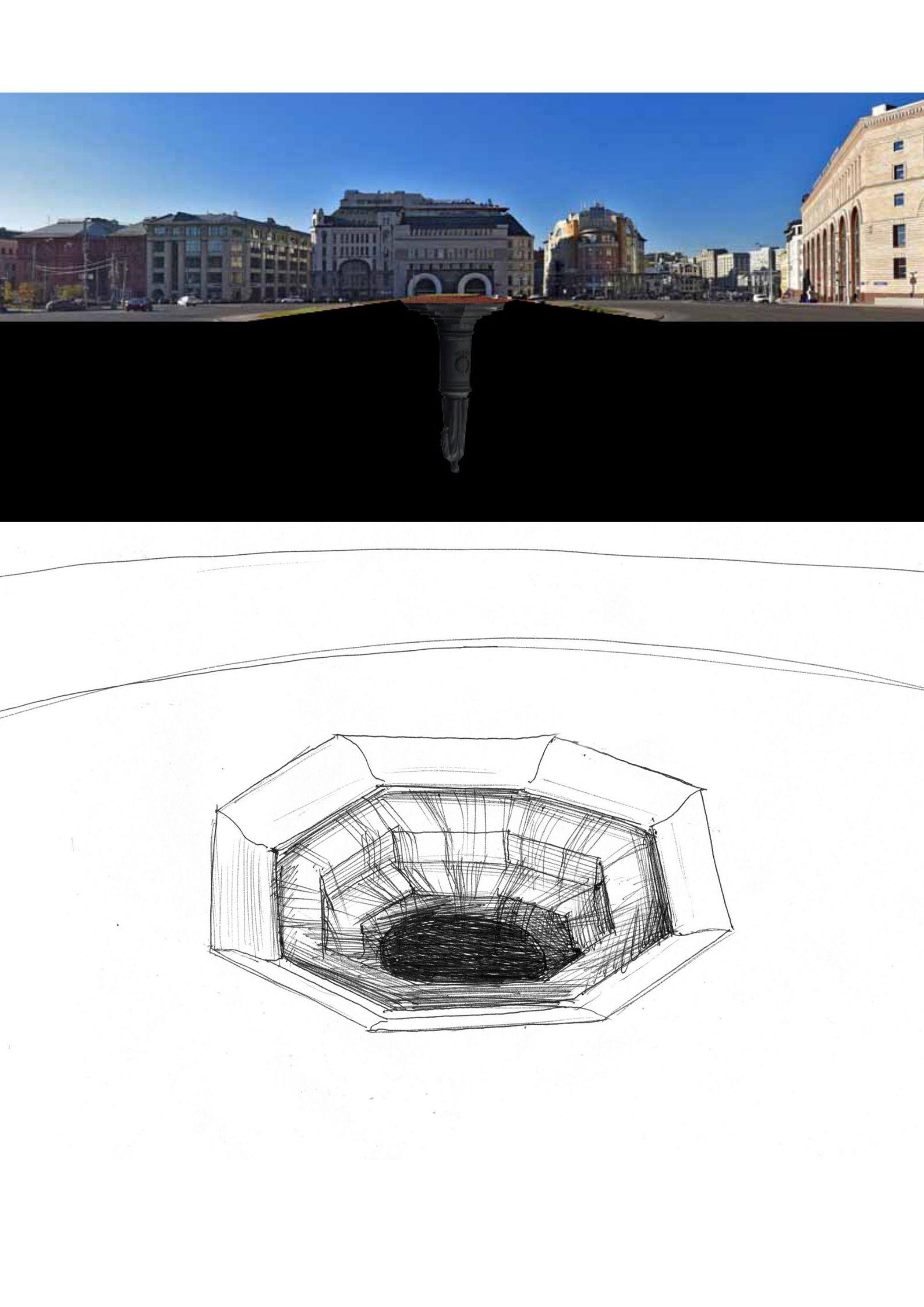 Лубянская площадь с памятником Дзержинскому глазами Павла Отдельнова