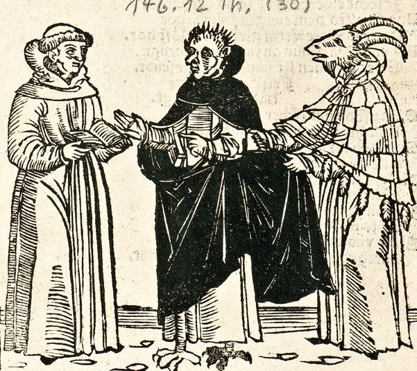 14. Эразм Альберий. Диалог Мартина Лютера с посольством из преисподней. 1523.