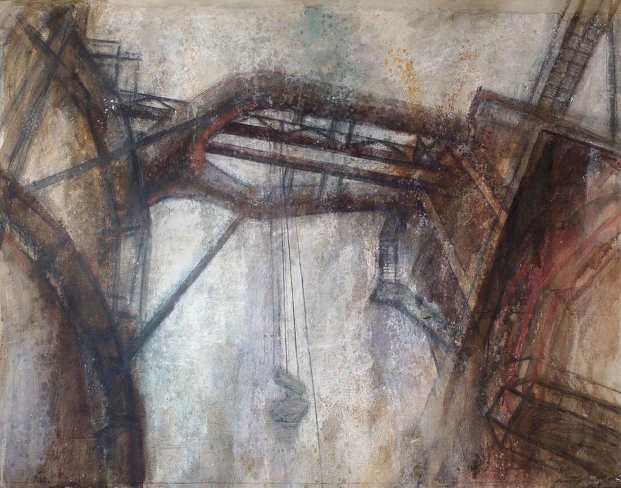 Павел Отдельнов. Конструкция. 2008. смешанная техника. 240x295