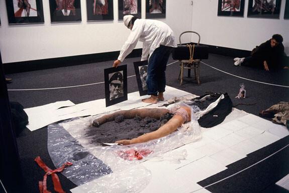 Серджио Зеваллос (Группа Чаклакайо), «Без названия», 1989. Выступление в IFA Institut für Auslandsbeziehungen, Штутгарт,
