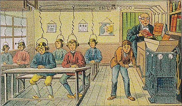 Иллюстрация Вильмара из серии открыток 1910 года «В 2000 году»