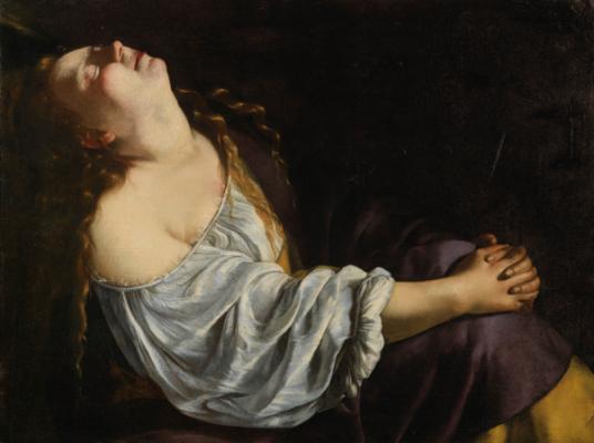 Артемизия Джентилески Мария Магдалина Холст, масло. 81×105 см26 июня 2014 г., Париж, аукцион Sotheby's, лот 24€ 865,500 (