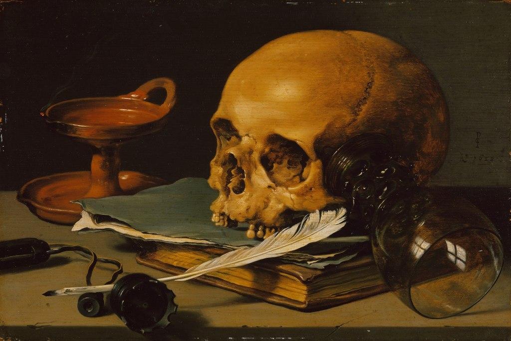 Питер Клас. «Натюрморт с черепом», 1628