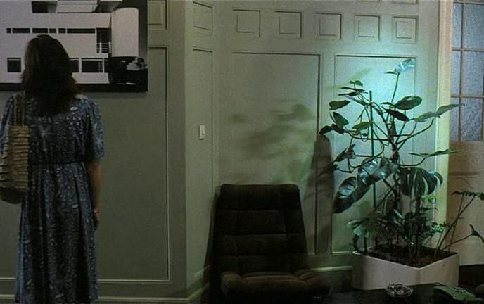 Анна рассматривает фотографию Зальцман-хауса, арх. Ричард Майер, 1967-1969 гг.