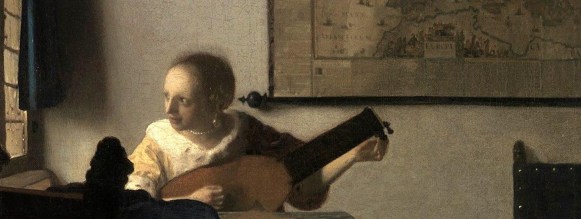 """Ян Вермеер """"Девушка с лютней возле окна"""", 1663 (фрагмент)"""