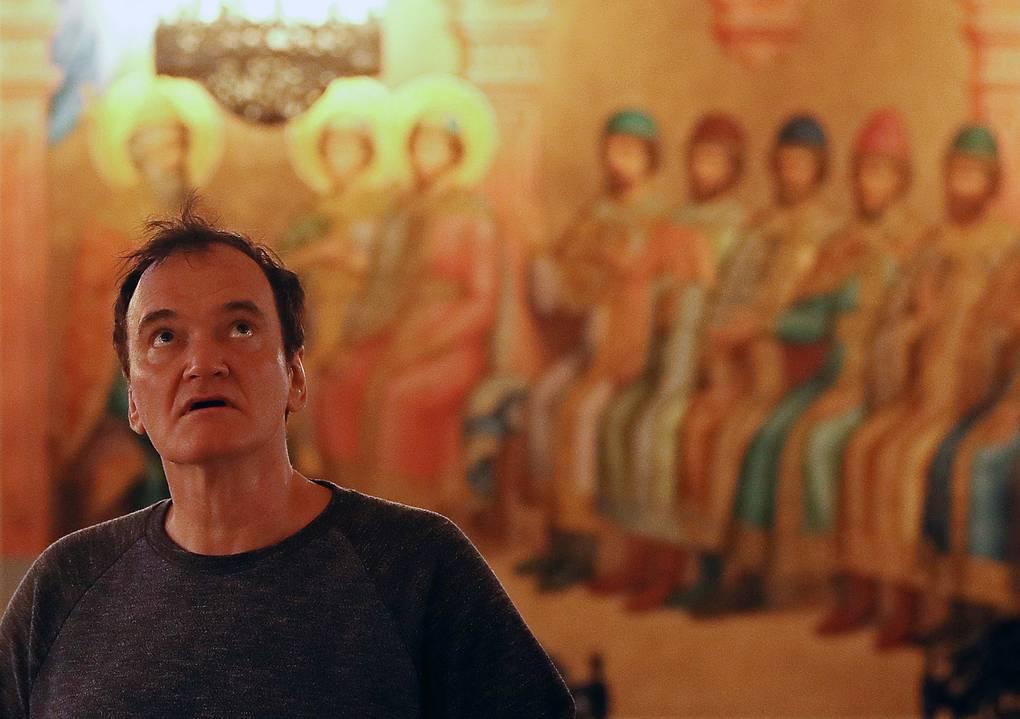 Квентин Тарантино на экскурсии в Музеях Московского Кремля, август 2019