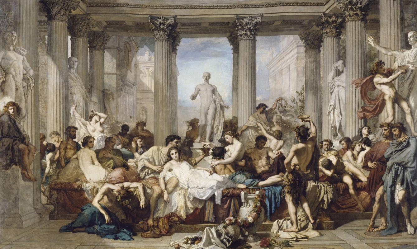 «Римляне времён упадка». Художник-академист, Тома Кутюр. 1847