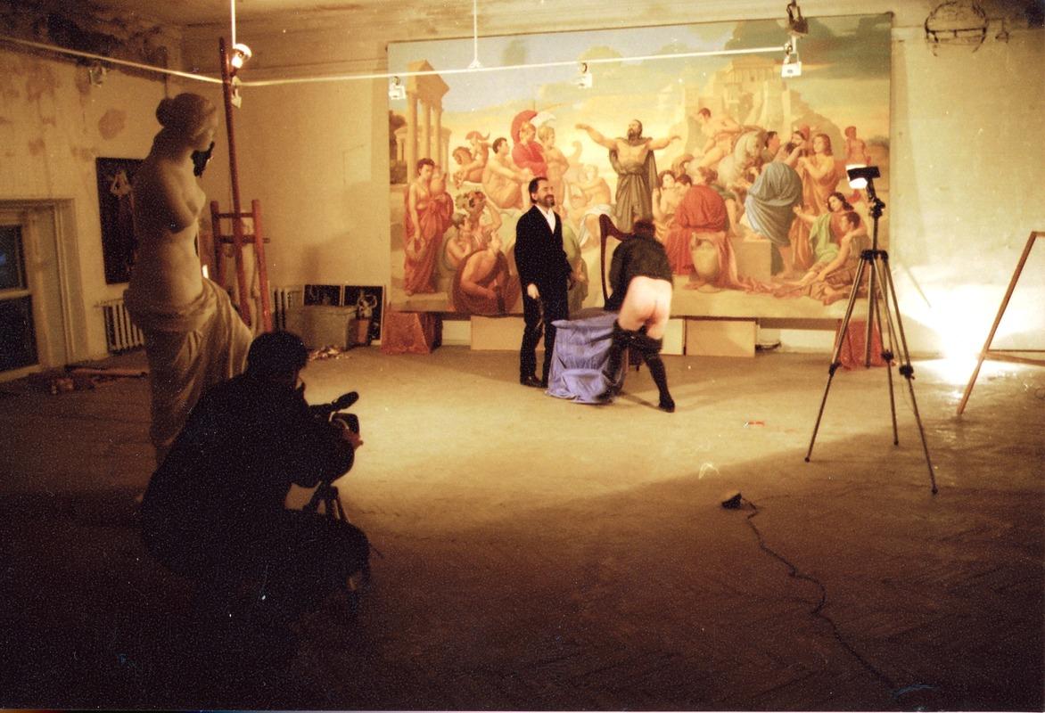 Съёмки фильма «Красный квадрат или Золотое сечение. Опять двойка — 2», 1999 © RAAN