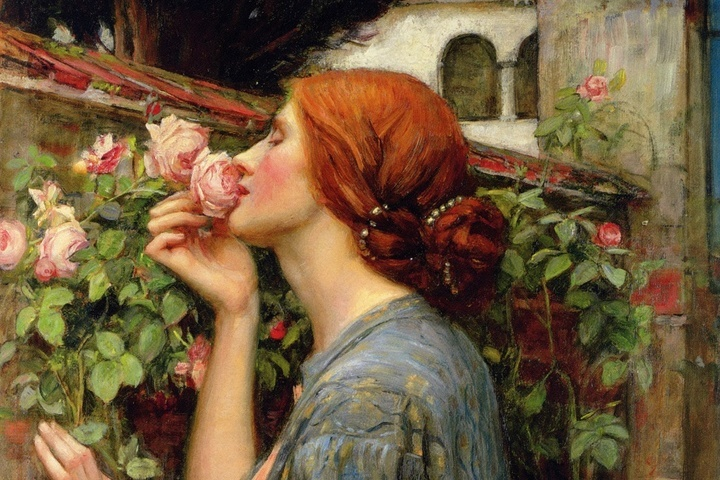 Фрагмент картины «Душа розы», Джон Уильям Уотерхаус