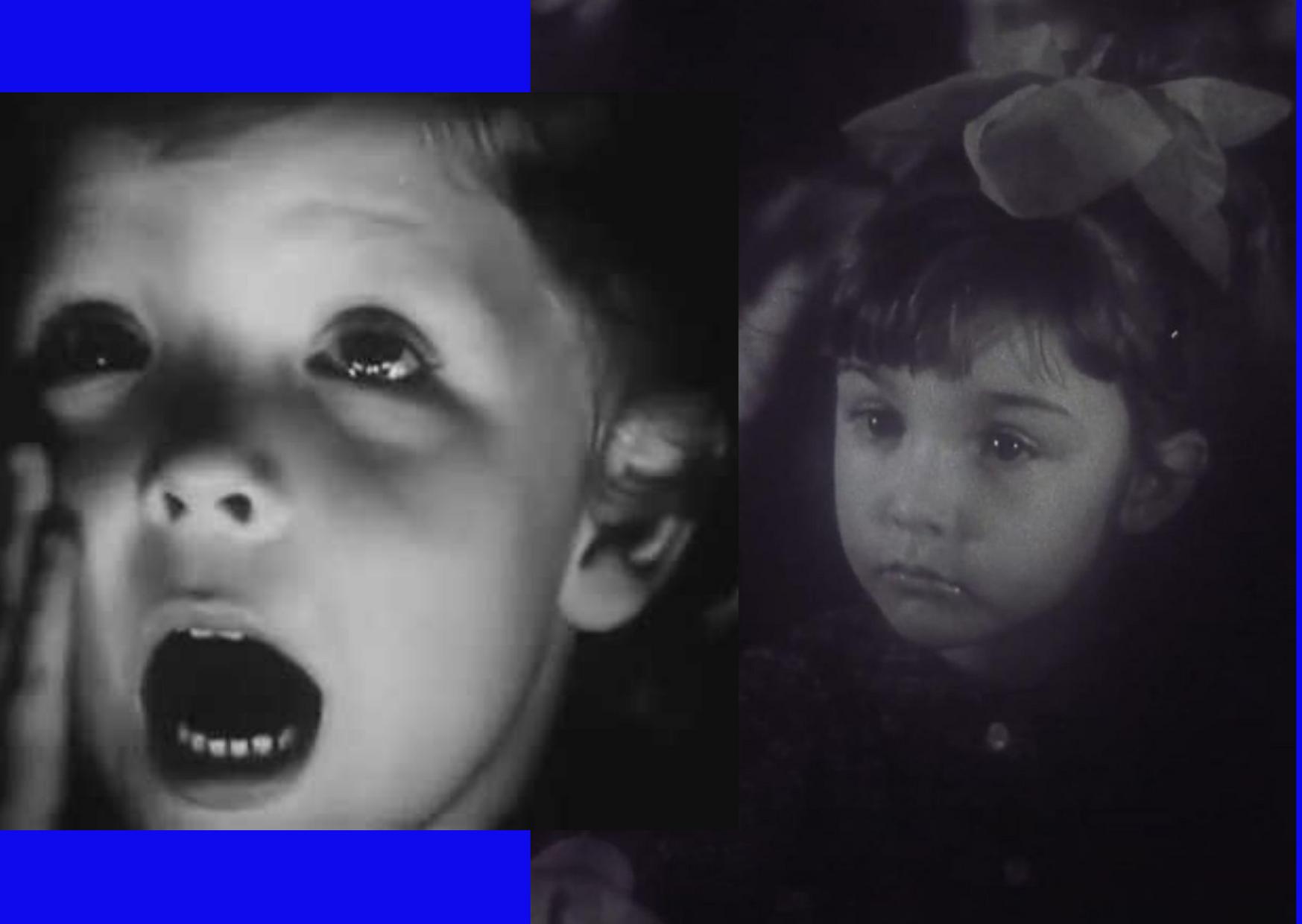 """Слева: кадр из фильма """"Старше на 10 минут"""" (1978) Справа: кадр из фильма """"К вопросу о диалектике восприятия искусства, ил"""